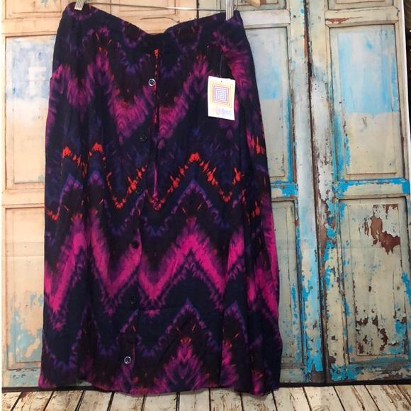 Tie Dye Mid Length Skirt